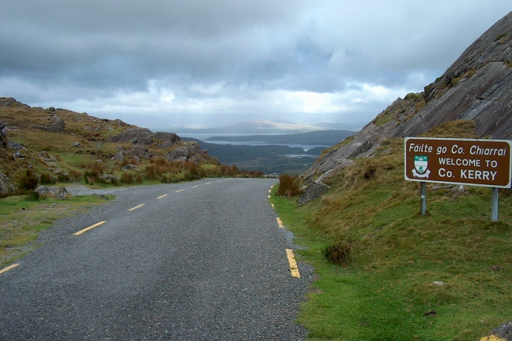 Der Healy Pass in den Caha Mountains, Countygrenze zwischen Kerry und Cork