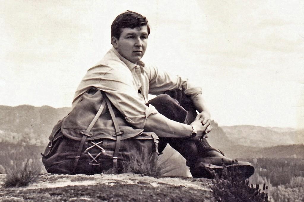 Ich in den Bergen 1969