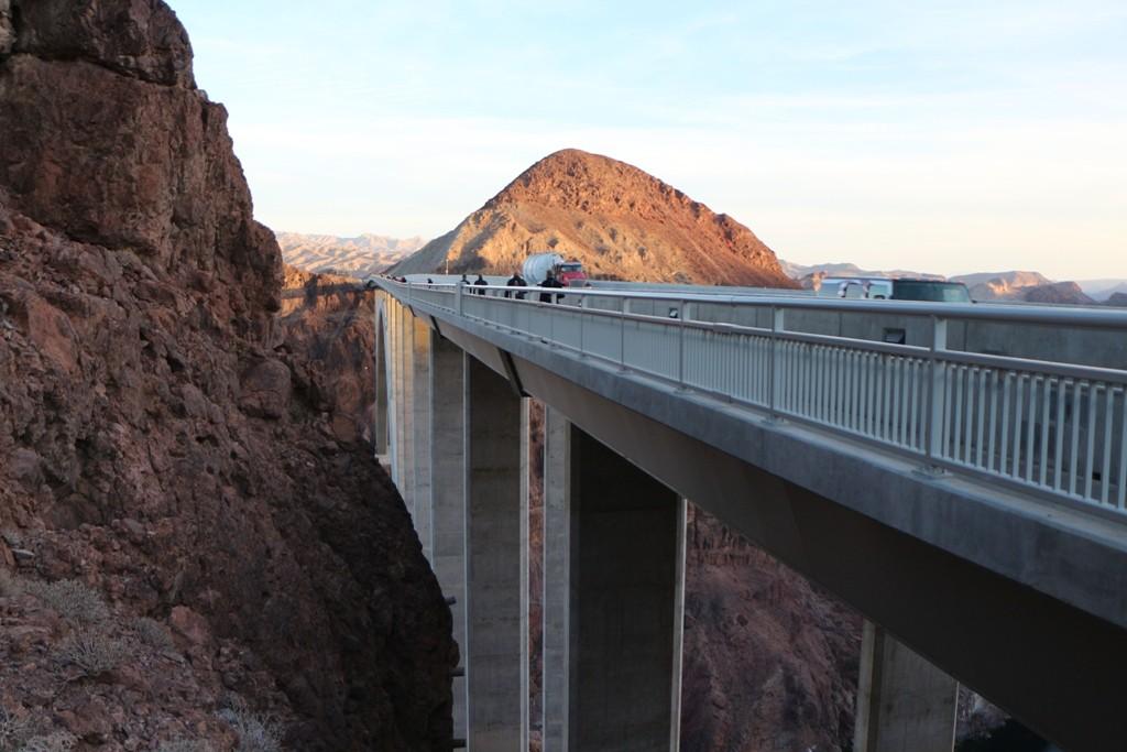 Die Hooverdam Bridge (Fotos stammen aus 2013)...