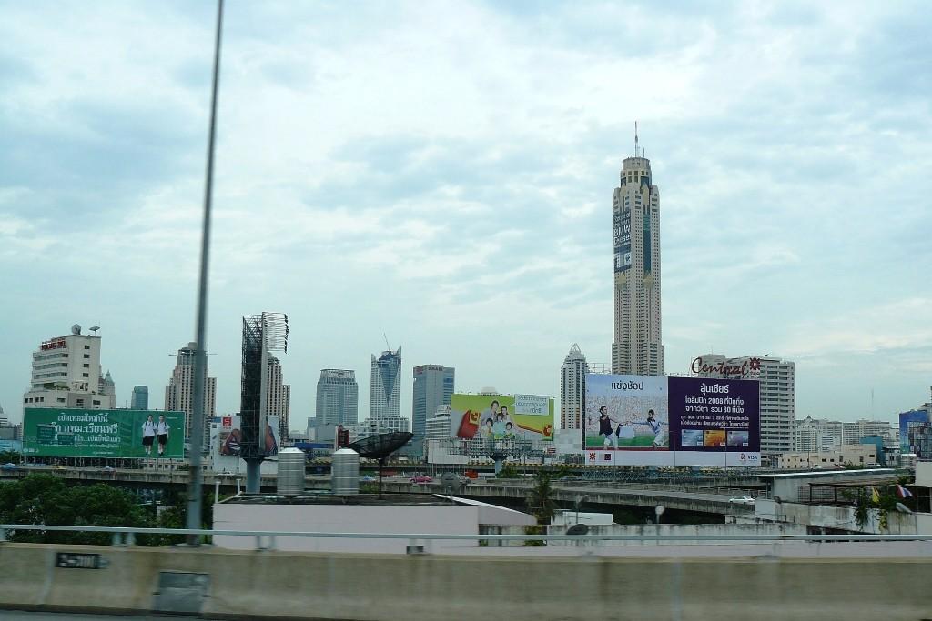 Teilansicht von Bangkoks Hochhaus Ansichten