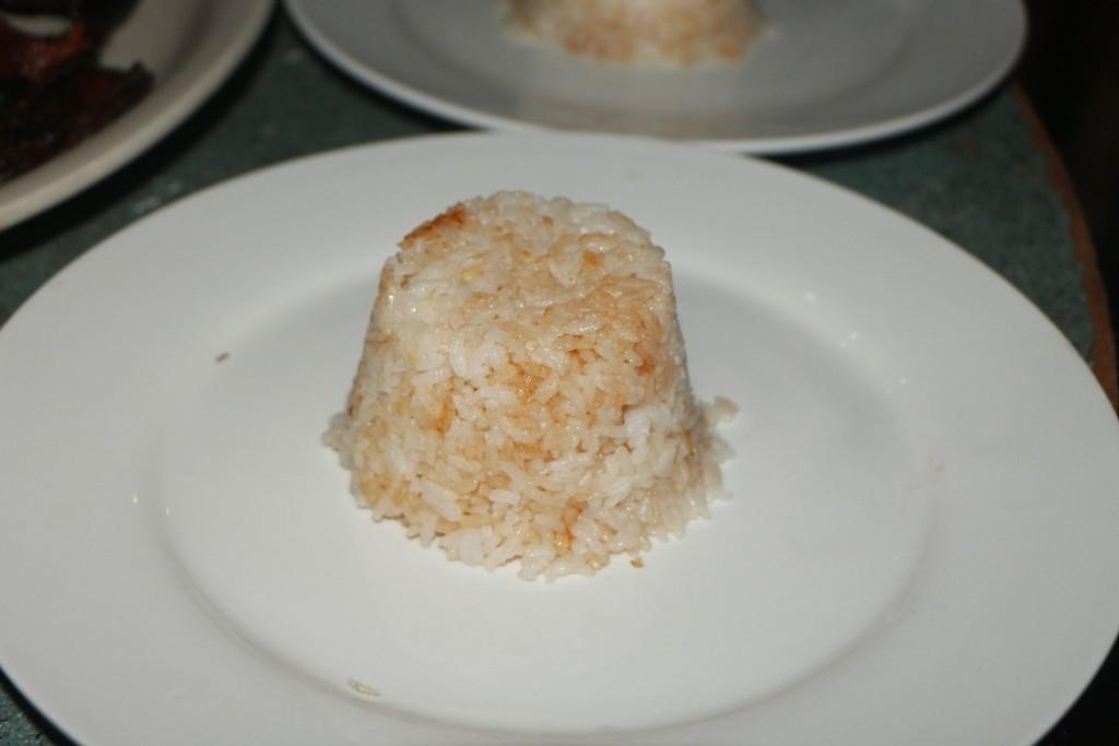 Heute gibt es Reis vom Feinsten! Hier Mangoreis und auch Knoblauchreis wurde serviert!