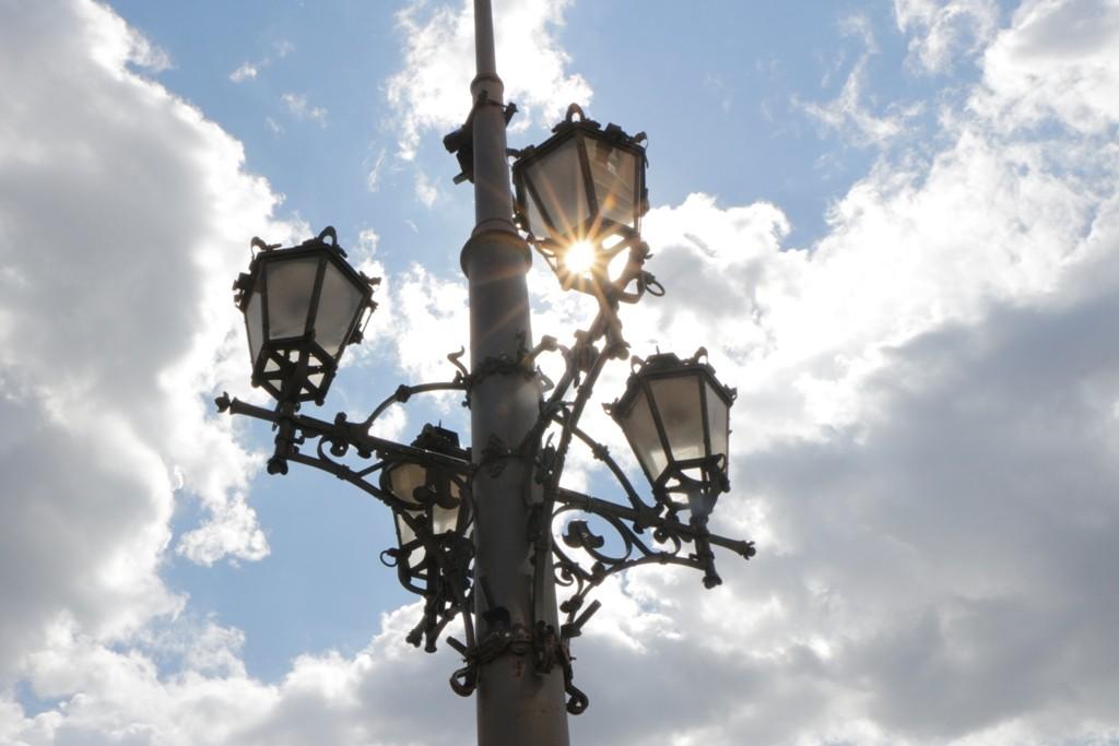 Historischer Laternenmast auf dem Rynek