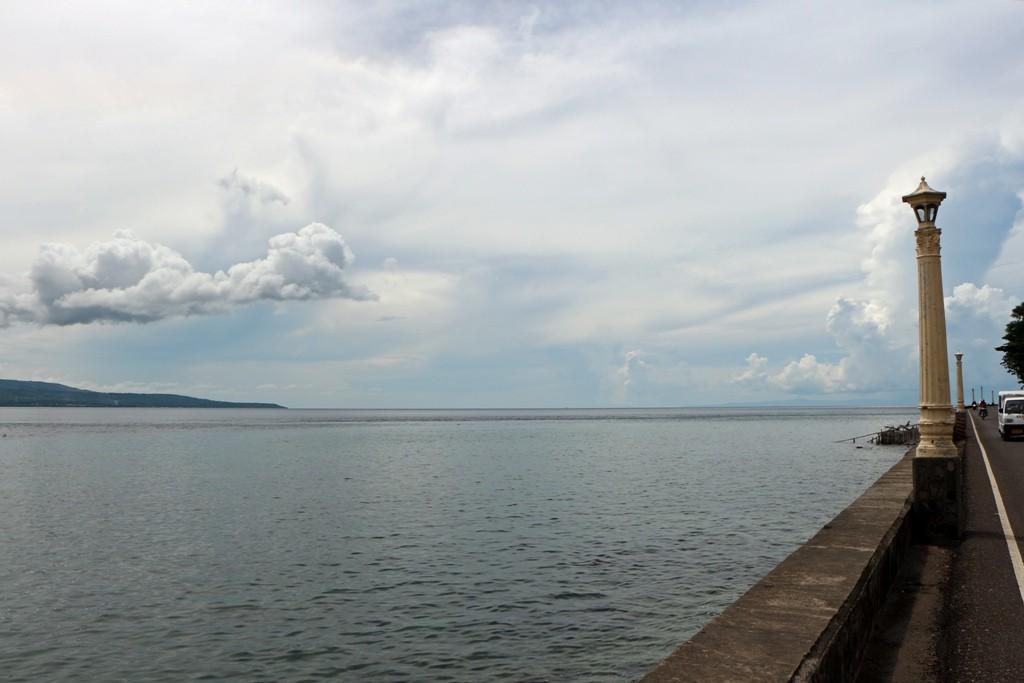 Hier ist der Ausblick auf die Tanon Strait und die Nachbarinsel Cebu sehr schön