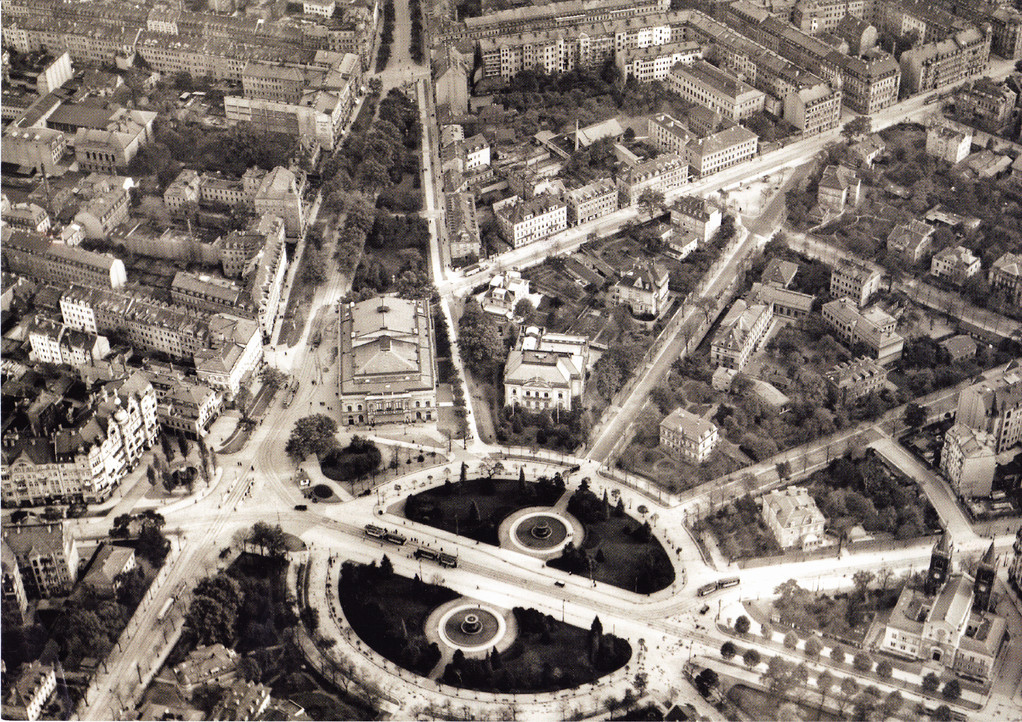 Dresden - Albertplatz um 1928