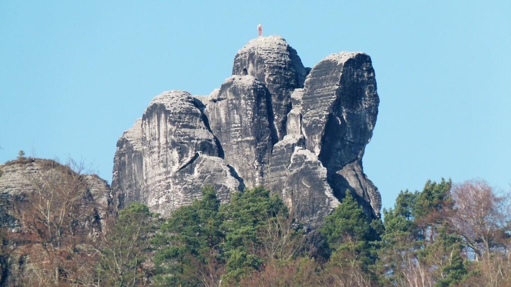 Der Mönch mit seinen legendären Gipfelfigur, dem segnenden Mönch!