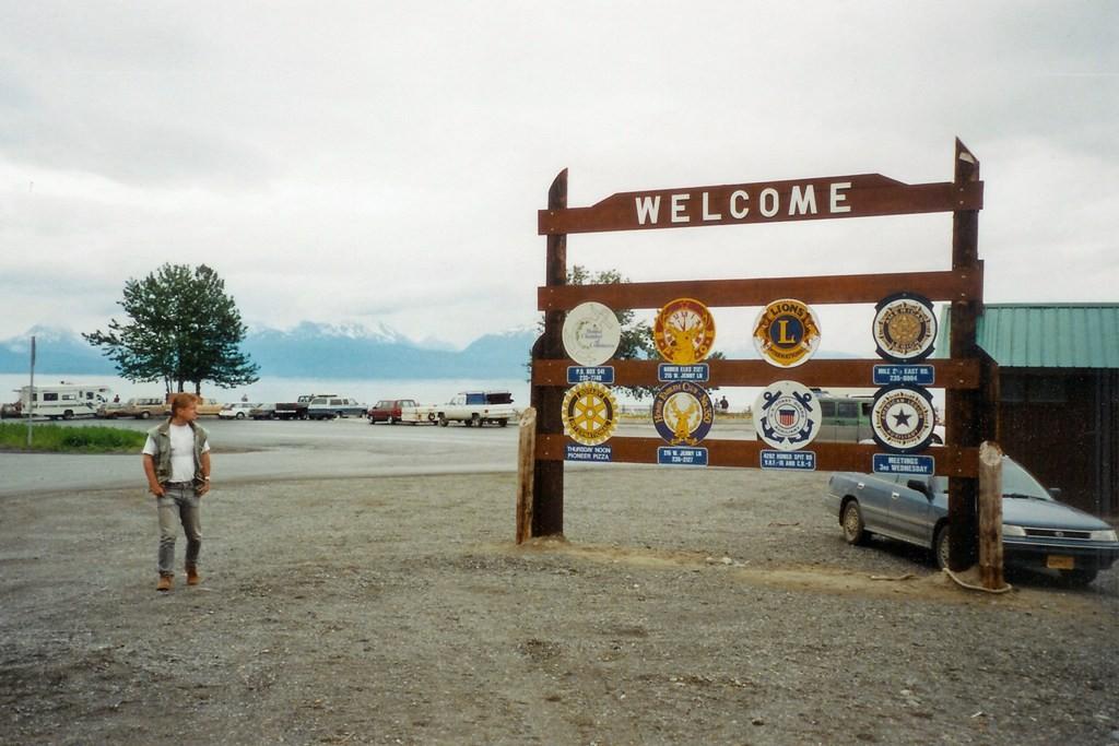 Willkommensaufsteller von Homer (Alaska)