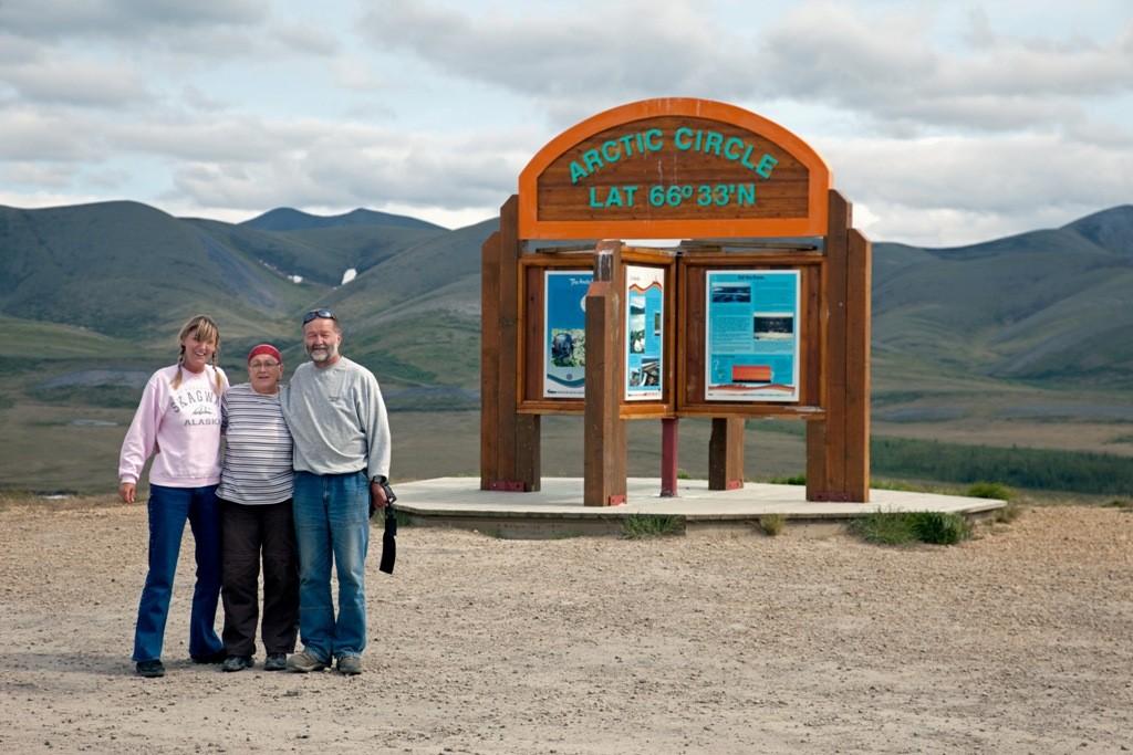 Wir stehen wieder am Polarkreis, doch dieses mal geht es in den Süden, zurück nach Dawson City
