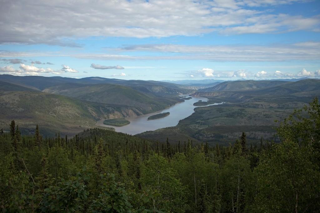 Der Yukon River, der majetätische Fluß mit seiner Komplettlänge von über 3.100 Km ist beeindruckend