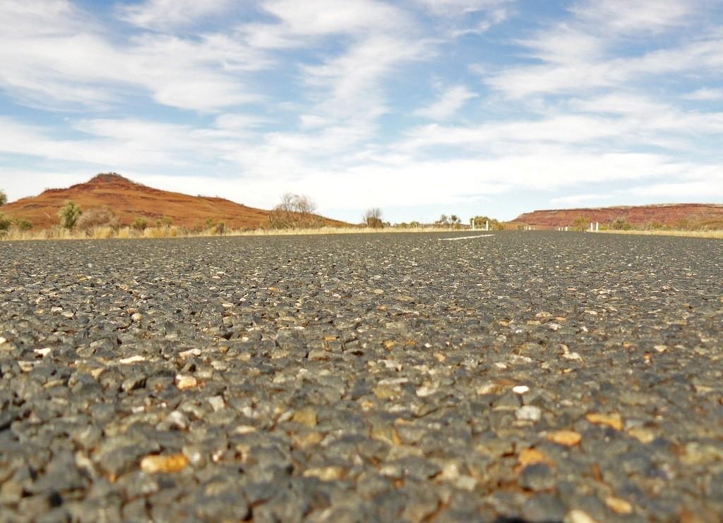 Die Surface (Oberfläche) des Great Northern HWY hat echt guten Gripp und ist in sehr gutem Zustand.