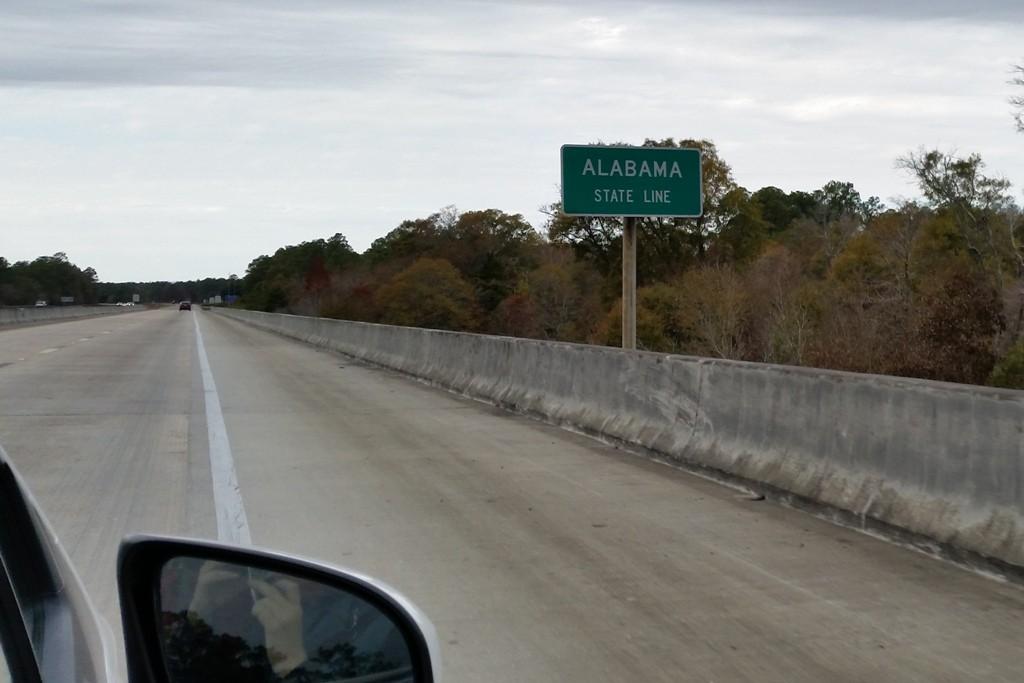 ...und kurze Zeit später ist man schon in Alabama!