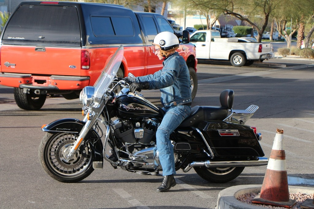 Udo Pa. mit seiner Harley, kurz vor dem Start!