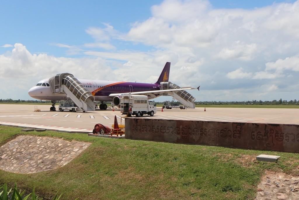 ...und nach knapp 45 Min. landen wir in Siem Reap, Kambodscha!