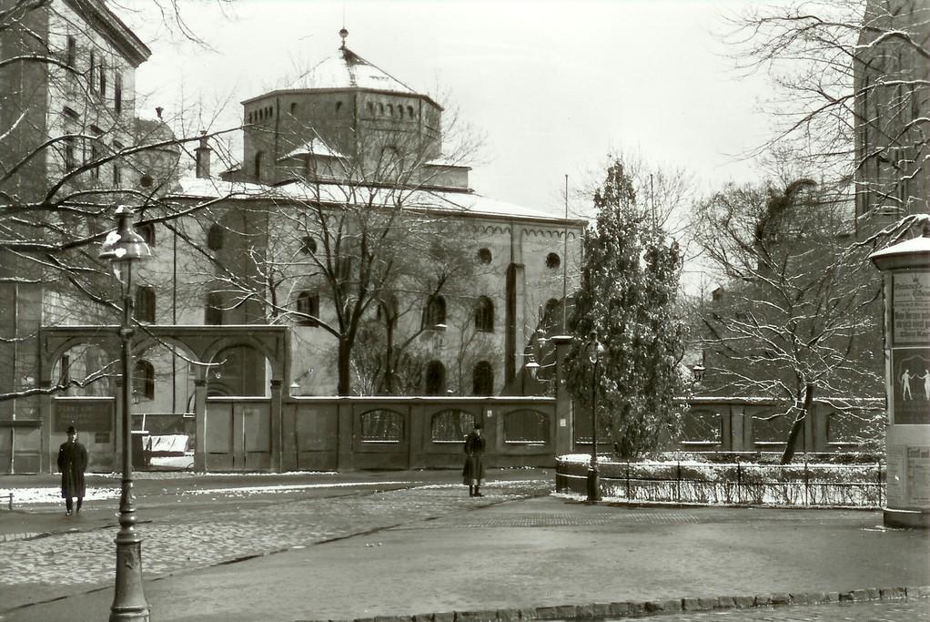 Dresden - Synagoge (1838-40 durch G. Semper), zerst. 10.11.1938
