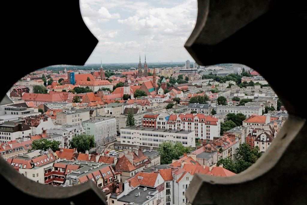 Breslau (Wrocław) aus 86 m Höhe in alle Himmelsrichtungen fotografiert