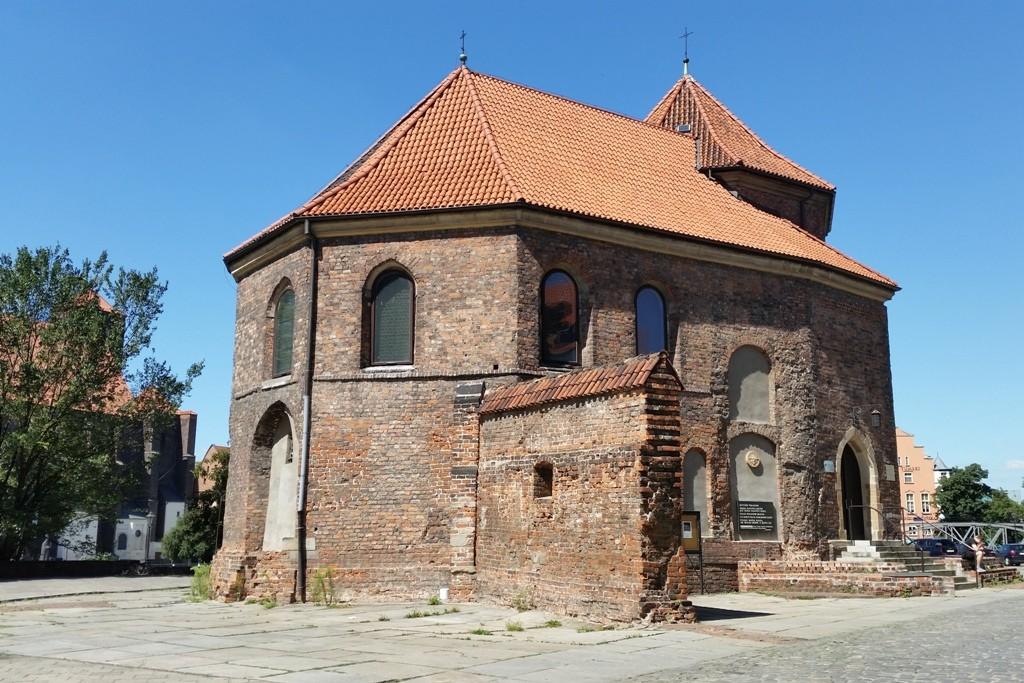Kirche und Burg Heiliger St. Martin (Zamek/Kościół Świętego Marcina), ältestes erhaltenes Gebäude der einstigen Piastenschlosses in Breslau (um 1287)