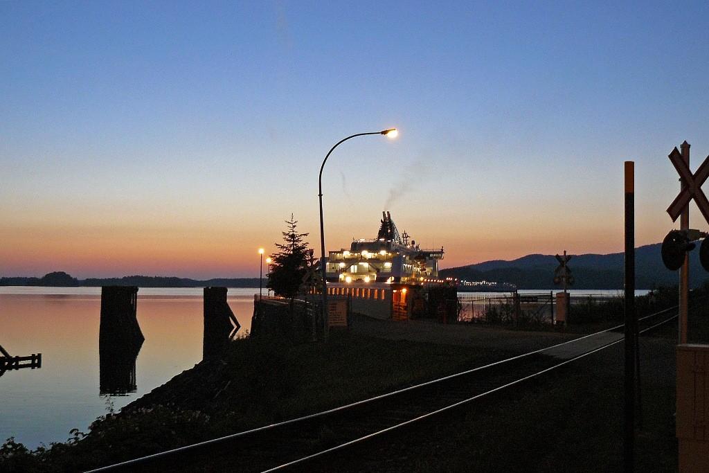 """Anlegestelle der """"Victoria"""" in Prince Rupert, wir gingen 22:45 Uhr an Land."""