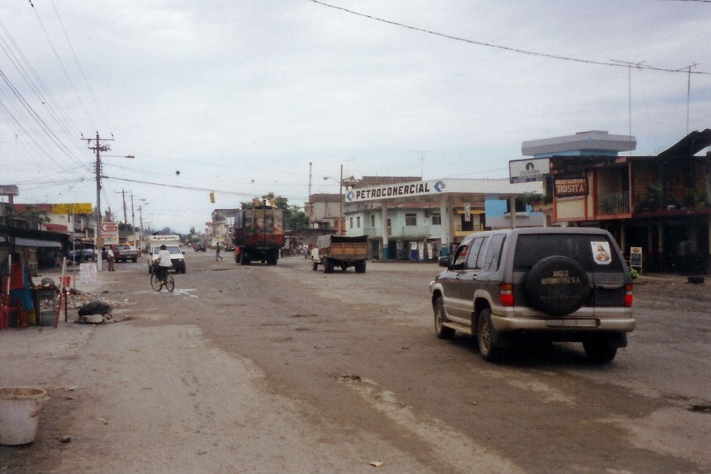 Die Hauptstraße in El Triunfo
