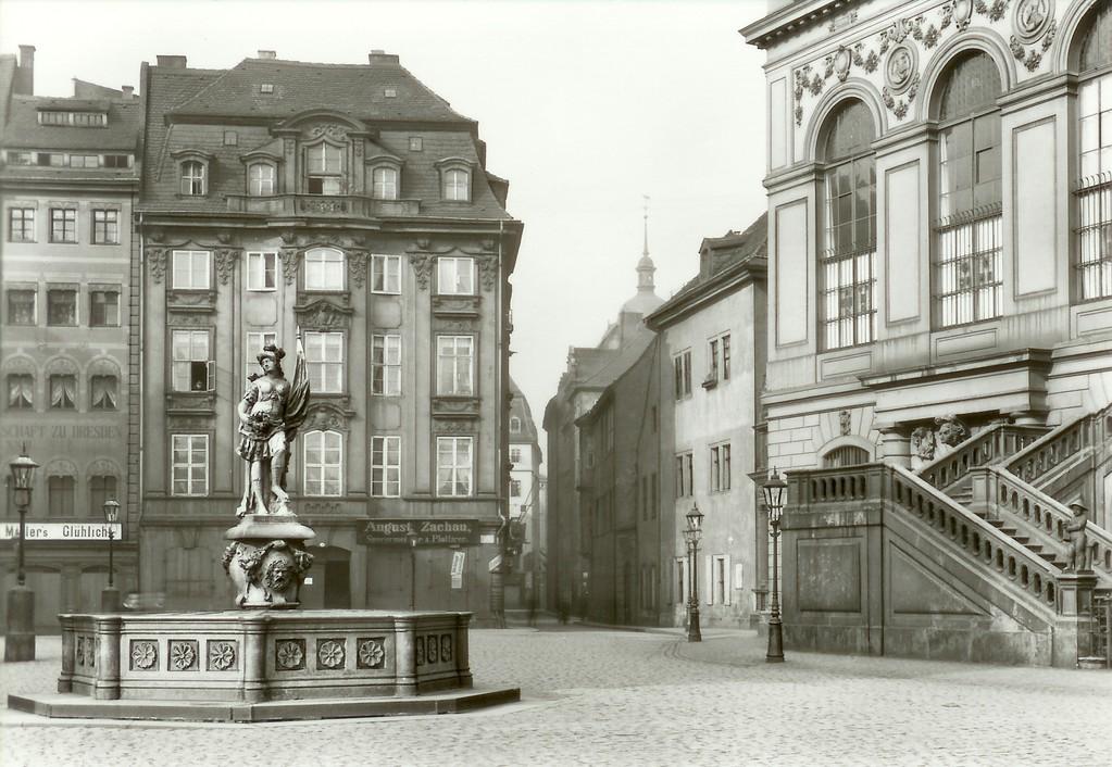 Dresden - Dinglingerhaus, Jüdenhof u. Friedensbrunnen