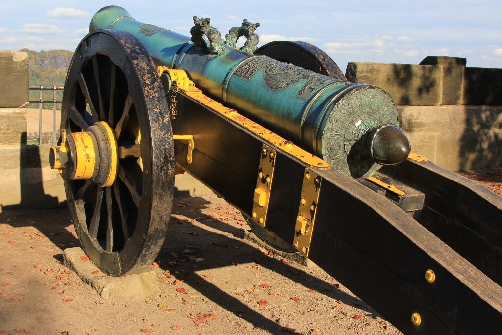 Eine prächtige Kanone, Detail der Georgenbatterie auf der Festung