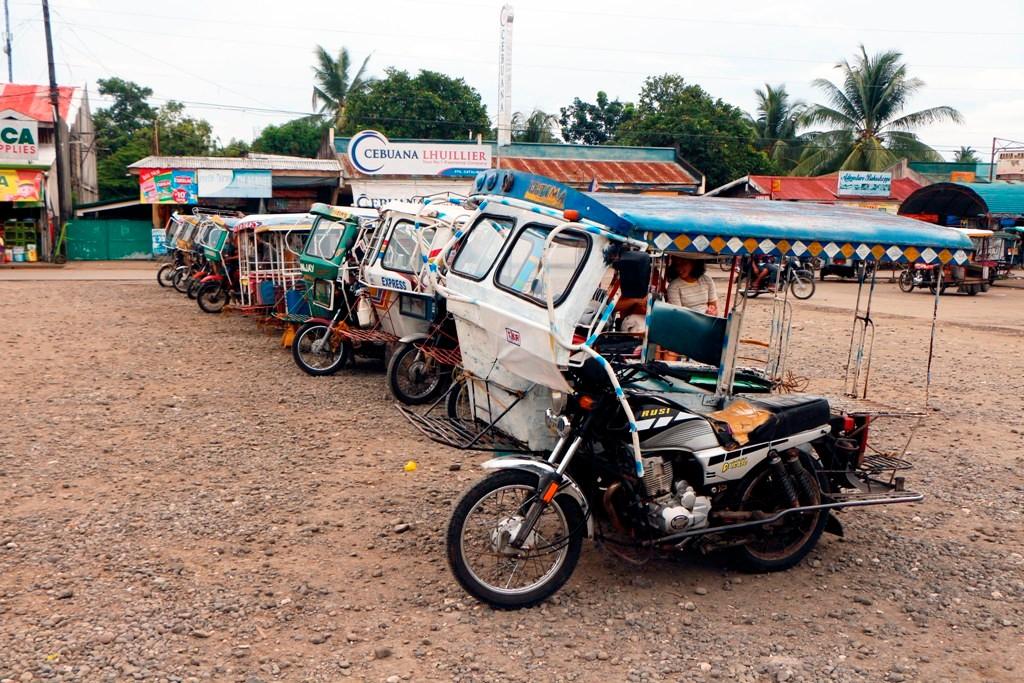 Tricycles Parkplatz, man wartet auf Kundschaft!