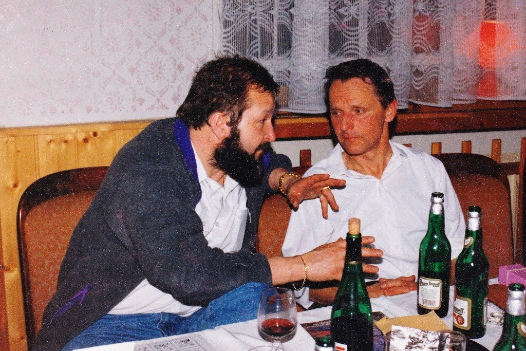 Stiftungsfest 1995 mit Steffen im Gespräch
