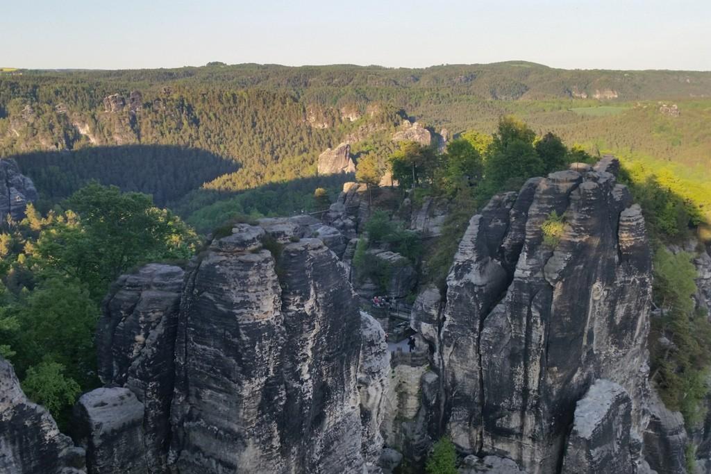 Kletterfelsen im Kletterparadies Rathen/Sächsische Schweiz