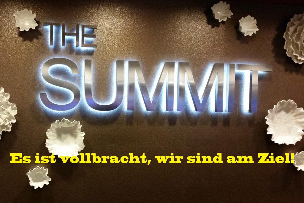 """...im Hotel an der Reception, der """"Gipfel""""!"""