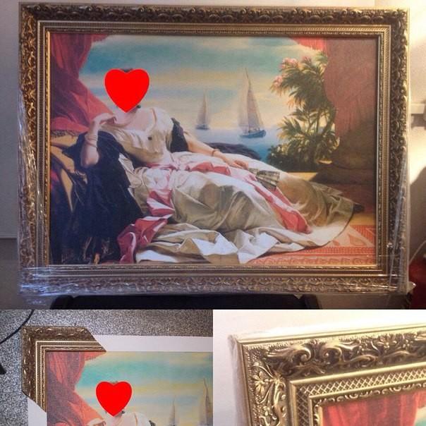 Фотомонтаж (картина из фотографии), печать на холсте, натяжка на подрамник, оформление в деревянный багет