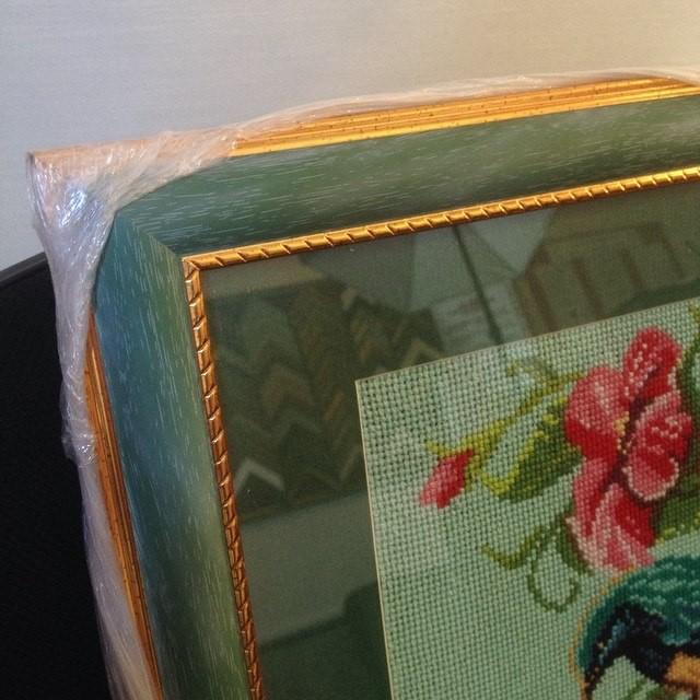 Оформление вышивки в багет с паспарту