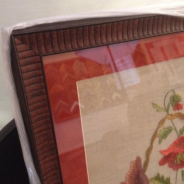 Оформление вышивок в багет с паспарту
