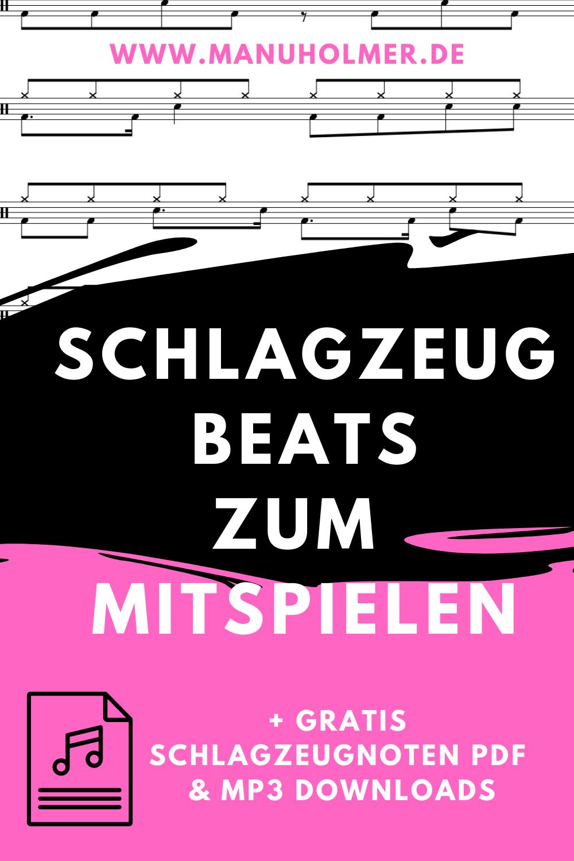 Schlagzeug Beats zum Mitspielen (+ PDF & MP3 Freebies)
