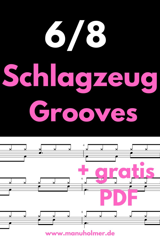 12 einfache 6/8 Schlagzeug Grooves (PDF)
