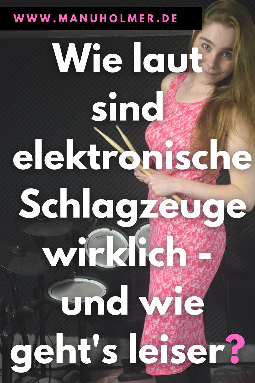 Wie laut sind elektronische Schlagzeuge - und geht's auch leiser?