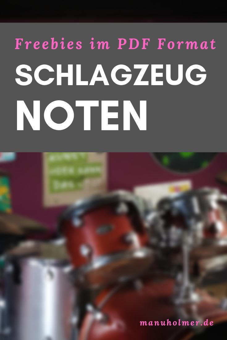 Schlagzeugnoten PDF