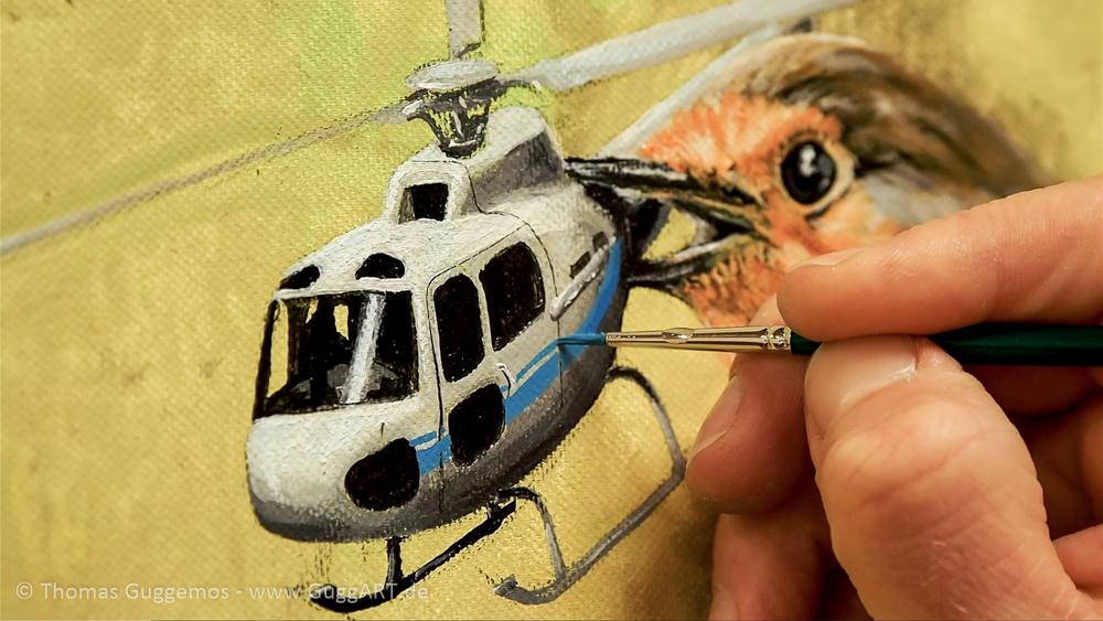 Der Helikopter erhält sein Design