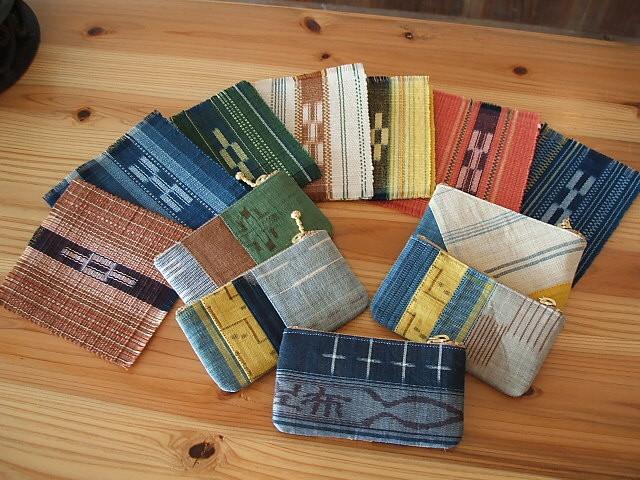 石垣島の伝統工芸品 ミンサーコースター&八重山上布の小銭入れ