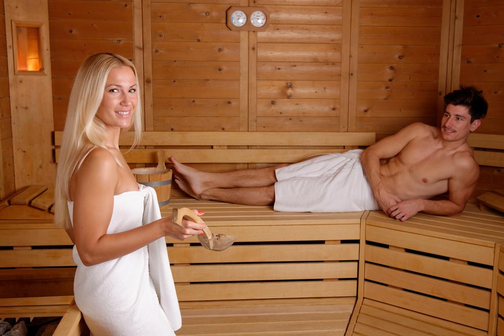 Abnehmen Sauna