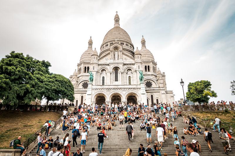Aussicht von der Kirche Sacre Coeur, Beste Aussicht, Paris, Montmatre, Frankreich