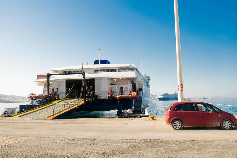 Fähre, Seajet, Ferry, mykonos, Inselhopping. Hafen, Santorini