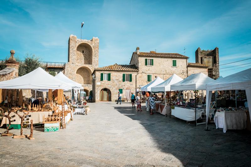 Monteriggioni, Toskana, Italien