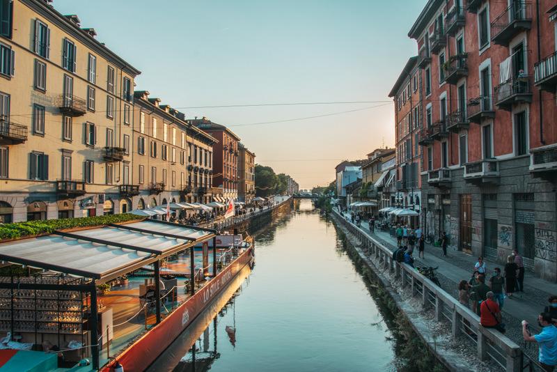 Stadtviertel Navigli, Mailand, Szeneviertel, Italien