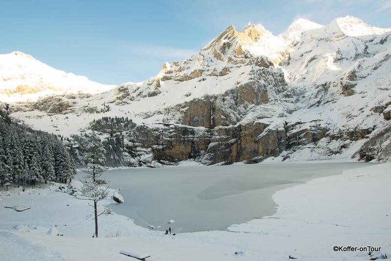 Oeschinensee, Winter, Schweiz, Berner Oberland