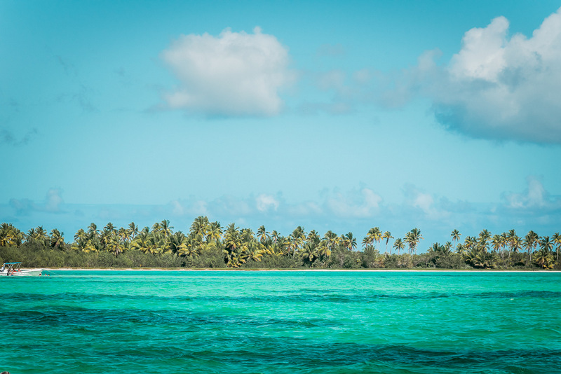 Die Sandbank bei der Isla Saona, Ausflug, Dominikanische Republik