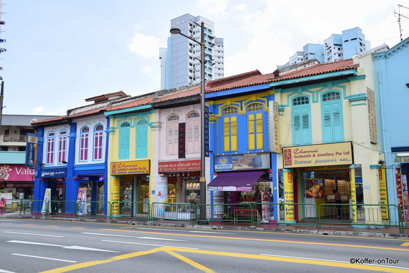 Little India, Singapur, Bunte Häuser
