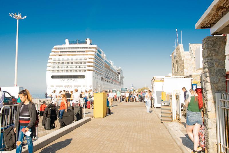 Fähre, Mykonos, Griechenland, Inselhopping, Santorini, Neuer Hafen, Ticketschalter