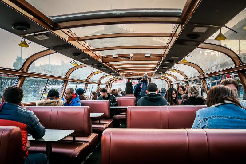Grachtenfahrt, Amsterdam, Bootstour, Stromma, Boot, Sehenswürdigkeit