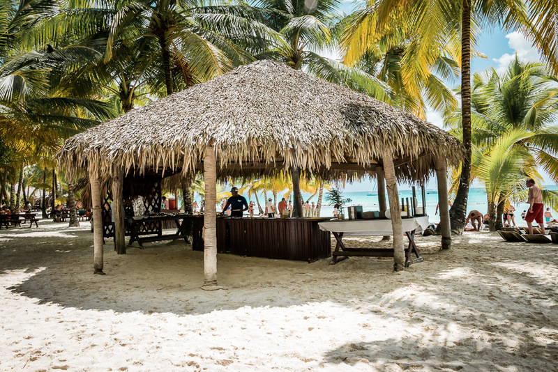 Grill am Strand von der Isla Saona, Ausflug, Dominikanische Republik