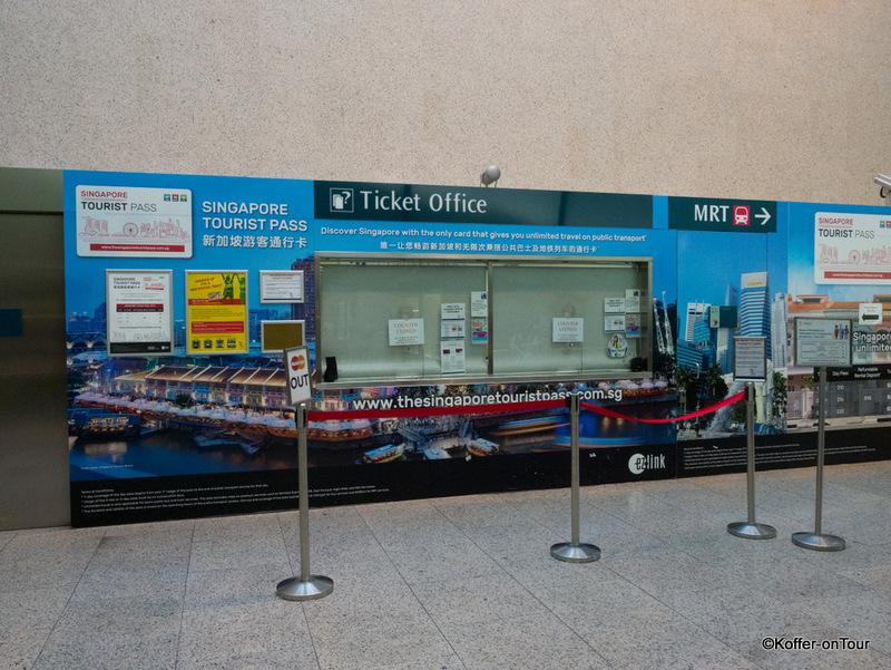 Ticketschlalter am Flughafen für den Tourist Pass