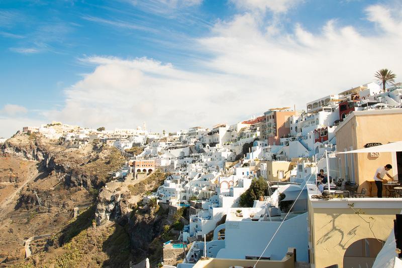 Fira, Santorini, Kykladen, Griechenland, Ägäis
