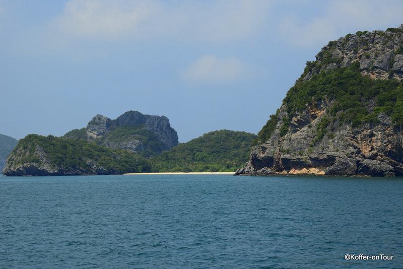 Kalkfelsen, Ang Thong marine Park, Koh Samui, Thailand